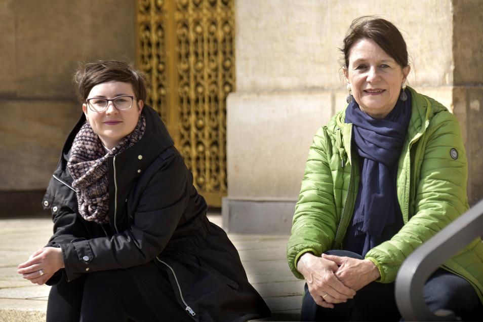 Die Fraktionschefinnen der Grünen: Tina Siebeneicher (l.) und Christiane Filius-Jehne.