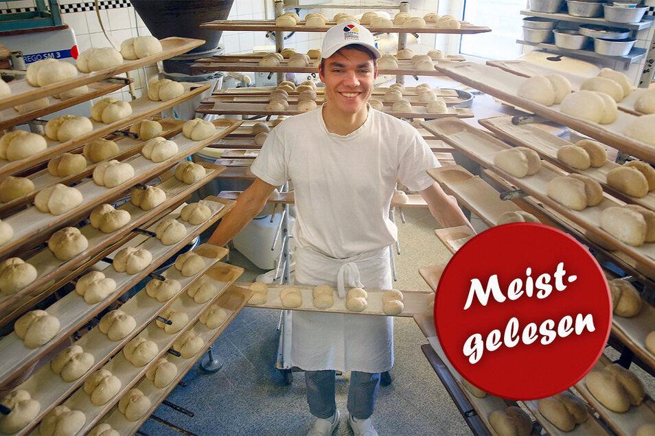 Bäckerlehrling Gideon Haase ist einer der besten Bäcker Sachsens.