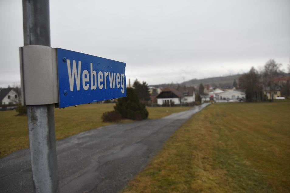 Der Weberweg in Neukirch soll ausgebaut werden, weil hier der Bau von Eigenheimen geplant ist.