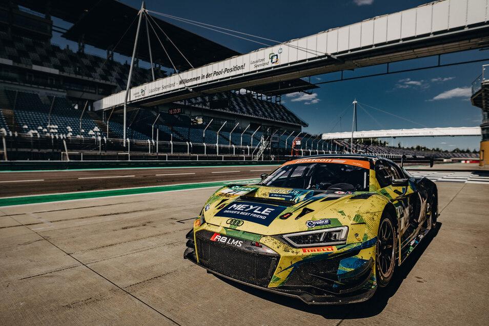 Für Testfahrten war der Audi R8 vom Team T3 vorige Woche auf dem Lausitzring. Dort beginnt Ende Juli die Saison.