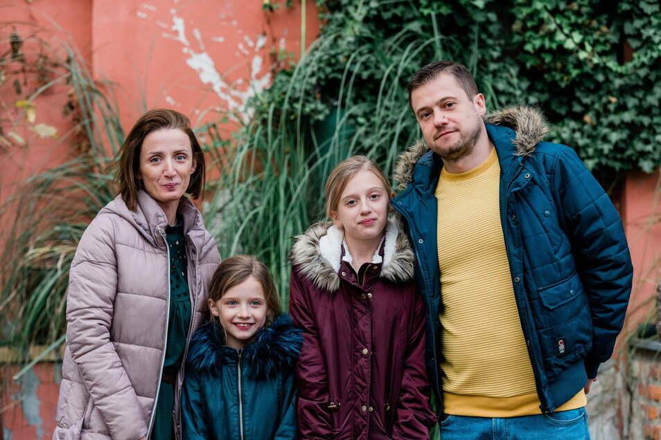 Familie Truch ist kürzlich aus England nach Görlitz gezogen. Doch auch vier neue Einwohner können das Schrumpfen von Görlitz nicht aufhalten.