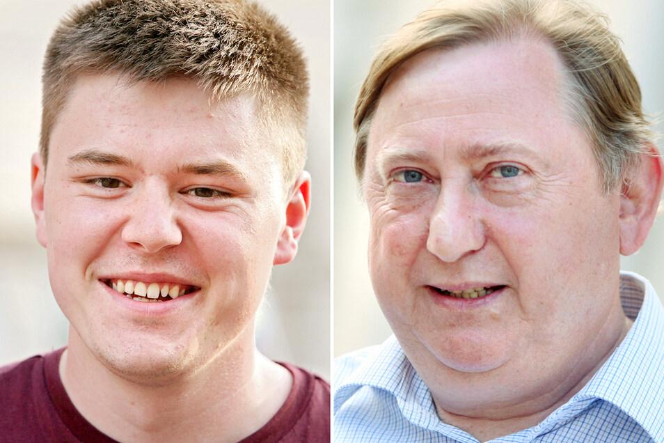 Fabian Funke (l. SPD) und André Hahn (Linke) ziehen auch in den Bundestag ein.