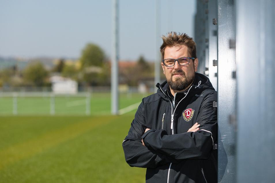 Sven Hartmann, 34 Jahre, arbeitet seit 2016 bei Dynamo und ist als Technischer Leiter verantwortlich für den Bau des neuen Trainingszentrums im Sportpark Ostra.