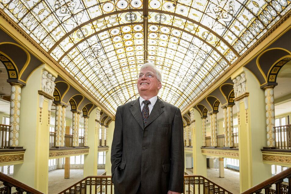 Investor Winfried Stöcker will das Parkhaus für das ehemalige Hertie Kaufhaus in Görlitz bauen.