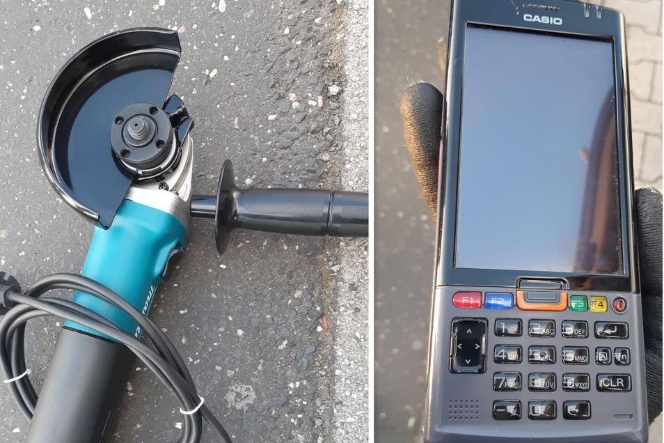 Ein neuer Makita-Trennschleifer im Wert von etwa 80 Euro gehörte genauso zur Beute wie ein Casio-Warenscanner im Wert von 1.800 Euro.