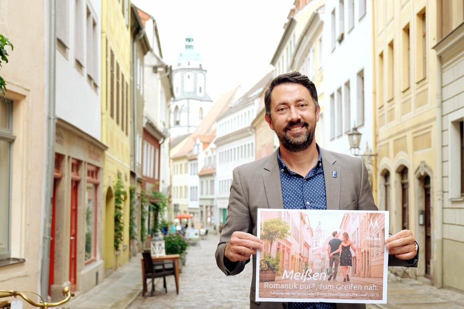 Christian Friedel leitet das Amt für Stadtmarketing, Tourismus und Kultur. Wie er mehr Touristen nach Meißen holen will.