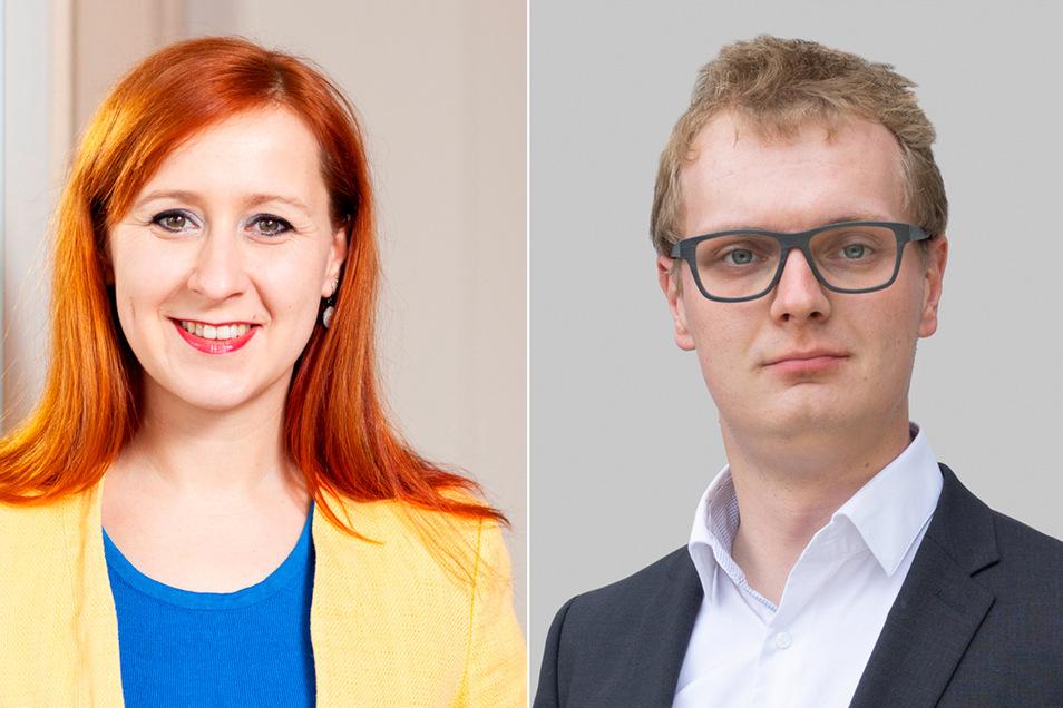 Bald neues Chefduo? Franziska Schubert und Valentin Lippmann.