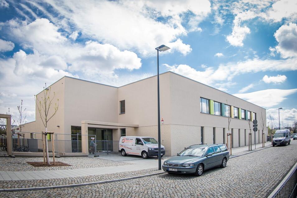 An der Marta-Fraenkel-Straße in Dresden-Neustadt wird am Montag eine neue Kita eröffnen.