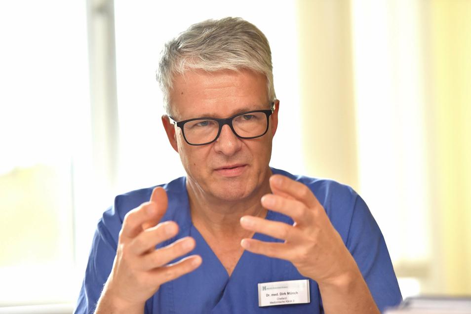 Dirk Münch ist Chefarzt an den Kliniken Freital und Dippoldiswalde.