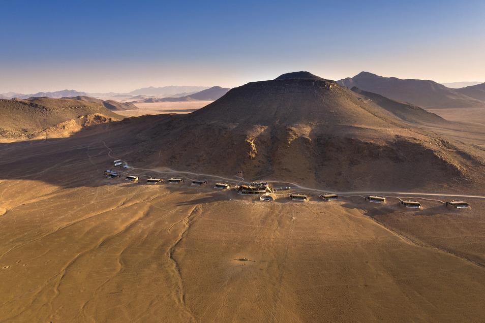 Allein im Naturreservat: Die Sossusvlei Desert Lodge.