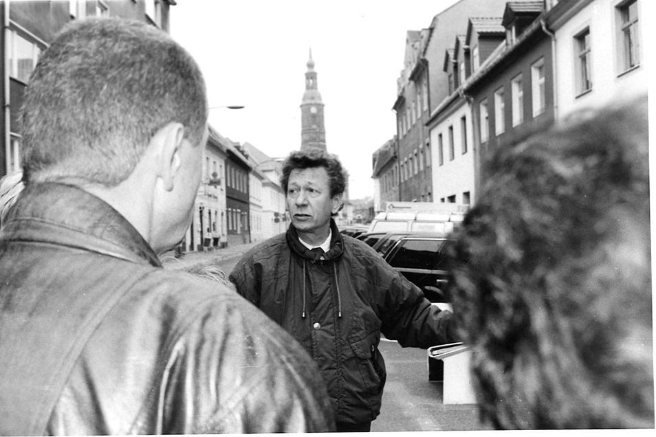Klaus Förster war lange Stadtführer in Großenhain. Er stammt aus Dresden und wohnt jetzt wieder dort.