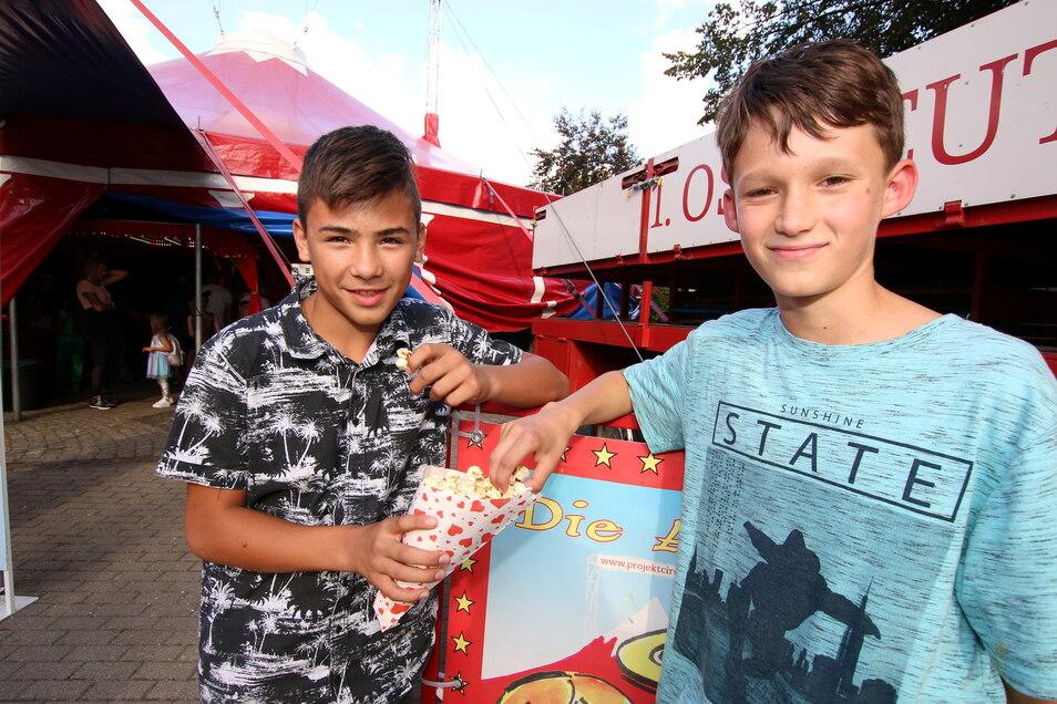 Francesco (links) und Emil haben sich angefreundet. Für eine Woche waren sie Klassenkameraden.
