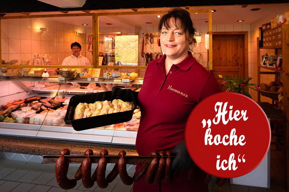Antje Kirpal im Lebensmittelladen. Lieber würde sie in der großen Küche stehen und Gäste bedienen.