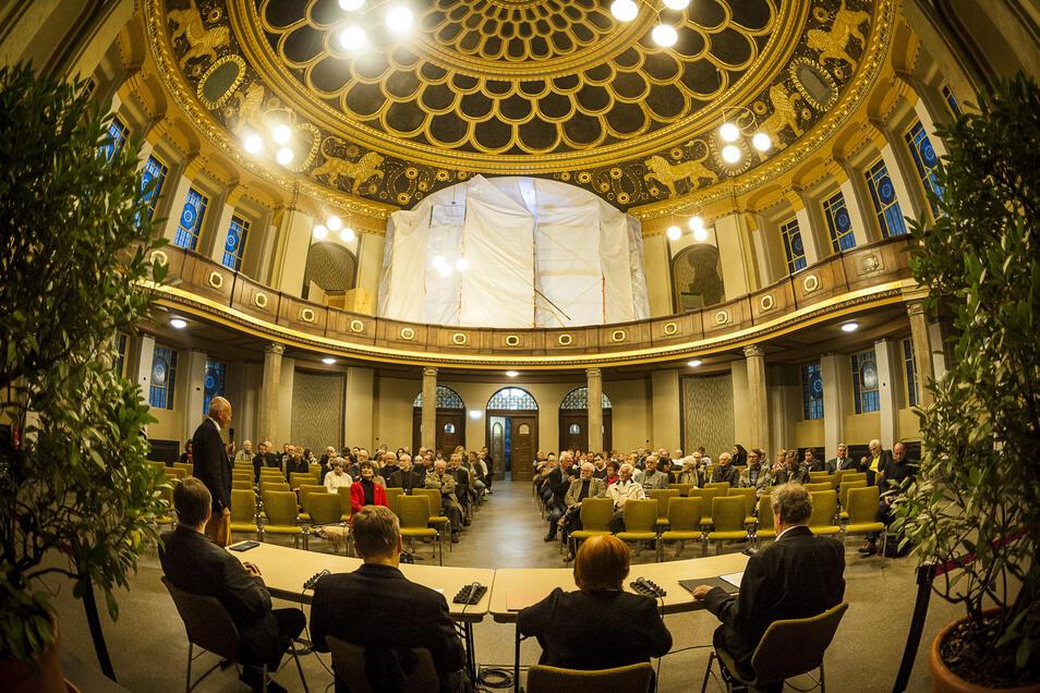 Der Hauptsaal der Görlitzer Synagoge ist weitgehend in alter Pracht wieder hergestellt worden. Das konnten die Görlitzer bei Veranstaltungen bereits erleben.