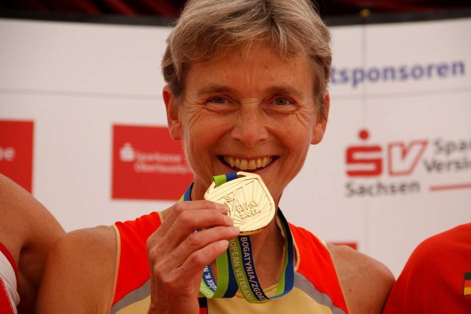 Freut sich über die Medaille: Ulrike Hiltscher