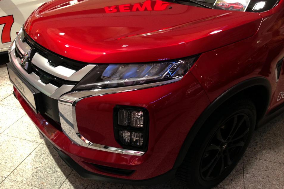 Markant-charaktervolle Automobil-Gesichter: Sie entscheiden neben technischen und sonstigen Leistungs-Details darüber, ob ein Modell zum Gewinner wird. Oder eben auch nicht. Hier ein Mitsubishi ASX von einer vorangegangenen Schau.