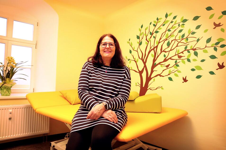 Kirsten Gärtner eröffnete in Pulsnitz eine neue Ergotherapie. Sie will näher an ihre Patienten dort rücken.