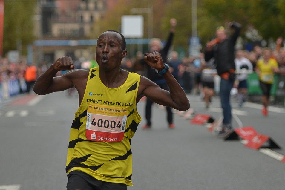 Ezekiel Koech lief den Marathon in Bestzeit.