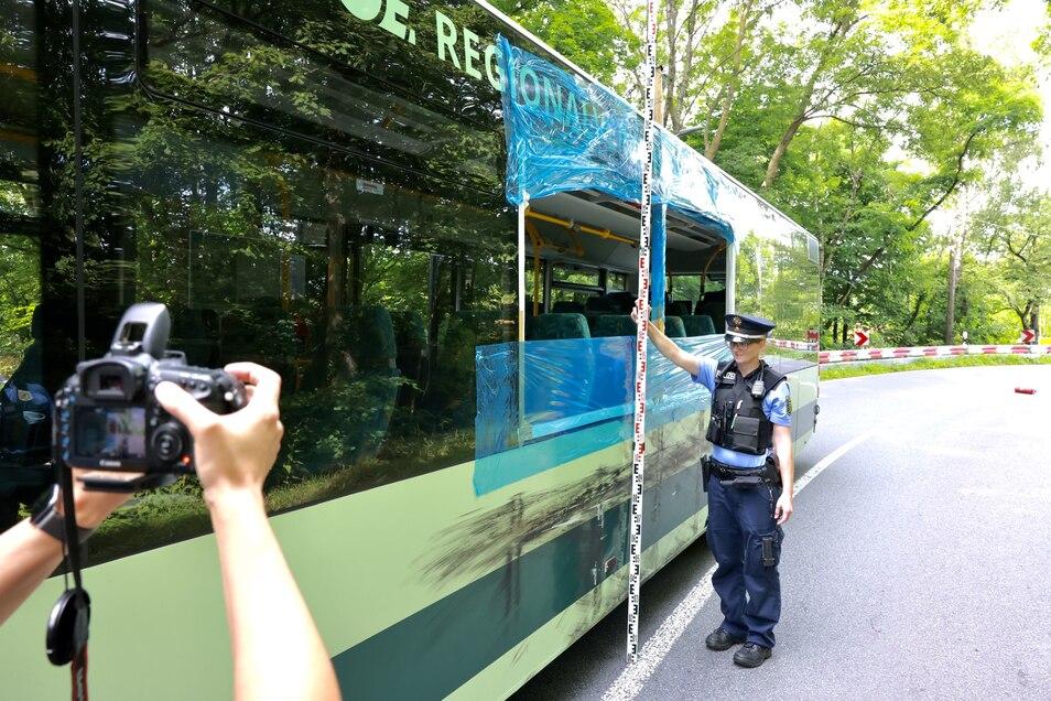 Der Verkehrsunfalldienst ermittelt zum Unfallhergang.