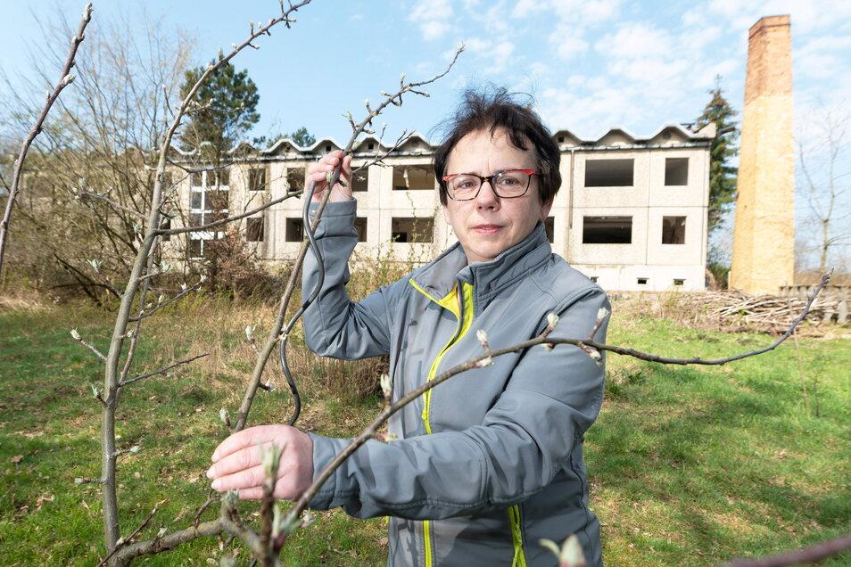 Petra Knop (55) ist neue Eigentümerin des einstigen Hotels Heiterer Blick in Radeberg.