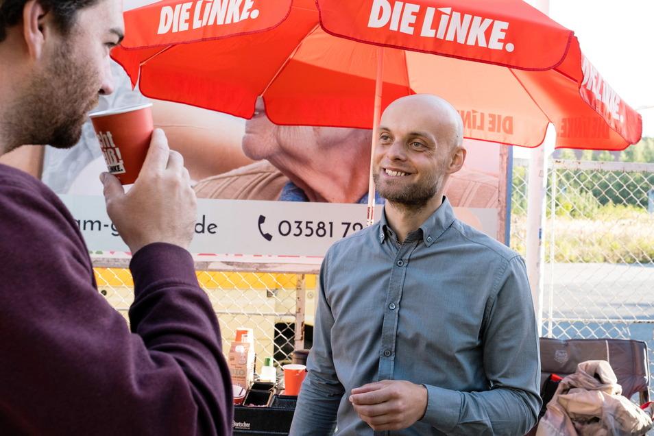 Stand auf verlorenem Posten bei der Bundestagswahl: Marko Schmidt, Direktkandidat der Linkspartei.