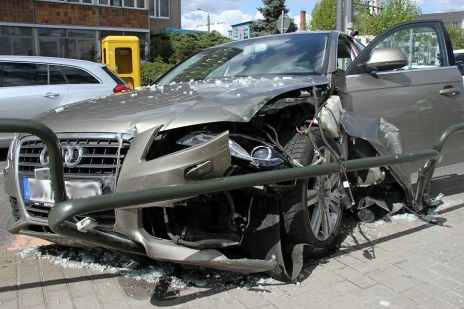 Heute Mittag passierte ein ähnlicher Unfall an der Schäferstraße in Dresden Mitte.