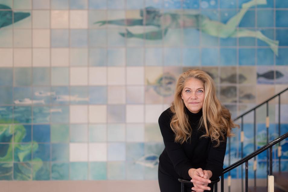 Rica Reinisch zurück in Dresden. Vor 40 Jahren wurde sie dreifache Olympiasiegerin – als 15-Jährige.