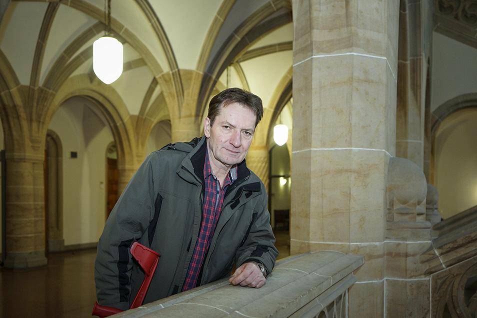 Frank Czymek vor der Verhandlung am Amtsgericht Bautzen am 3. März dieses Jahres.