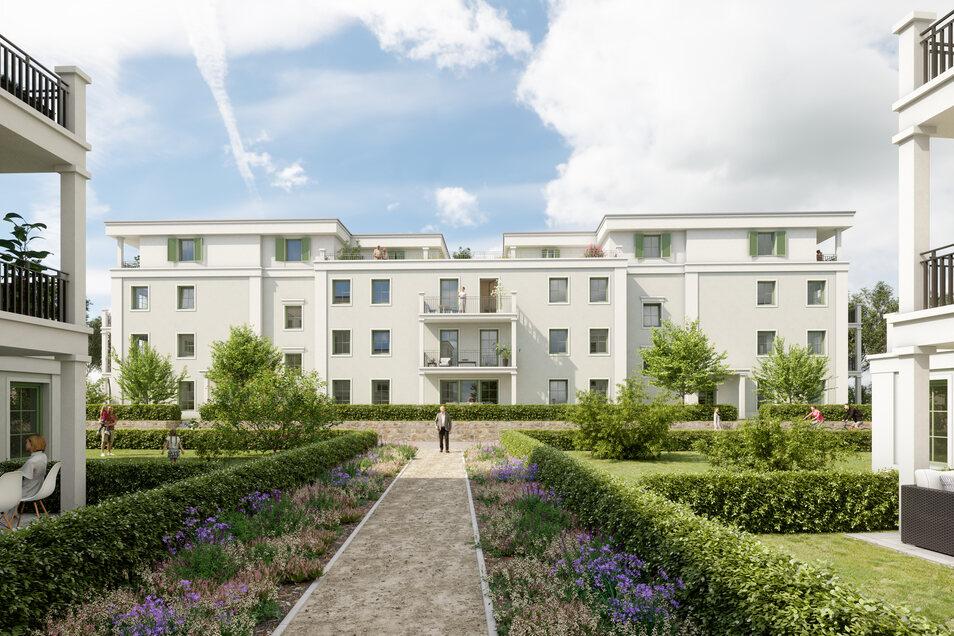 """Neues Projekt in den Pirnaer Sandsteingärten: Aus zwei Parkvillen wird die """"Villa Rose""""."""