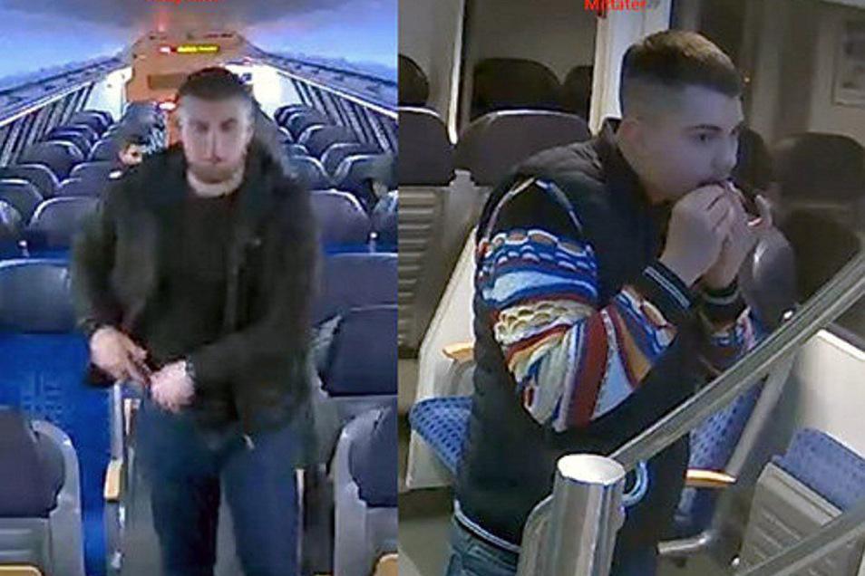 Die Polizei sucht mit einer Öffentlichkeitsfahndung nach Hinweisen zur Identität dieser beiden Männer.