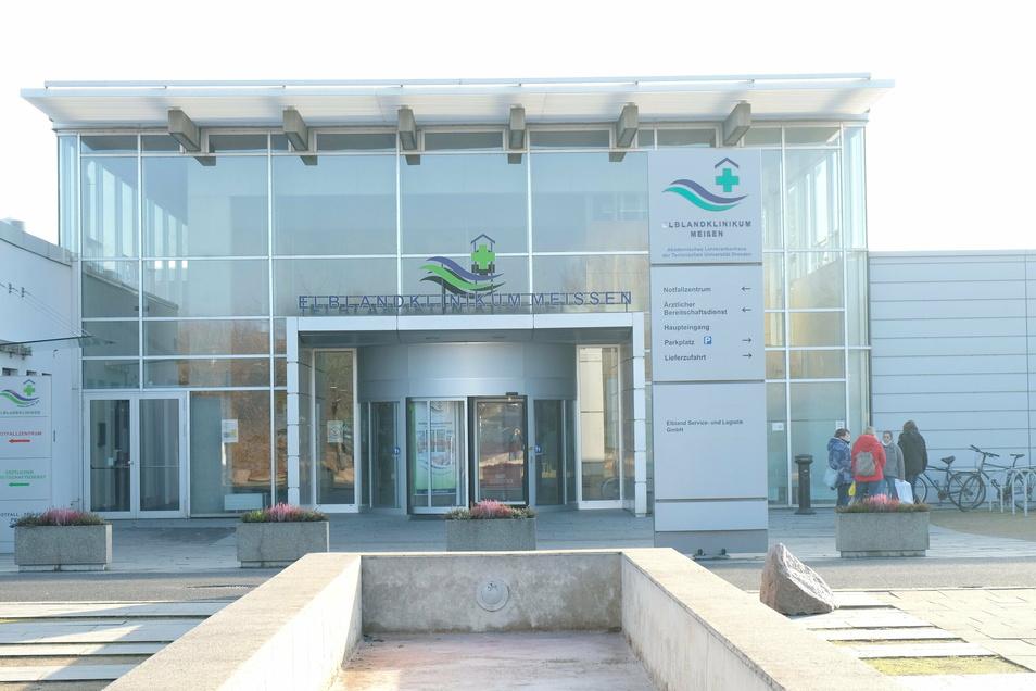 Das Elblandklinikum in Meißen ist der Standort, an dem Corona-Patienten behandelt werden.