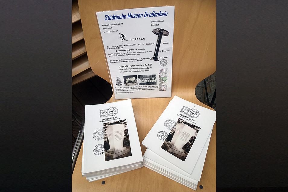 Diese Broschüre zum Vortrag brachte der Koselitzer zum Verkauf mit.