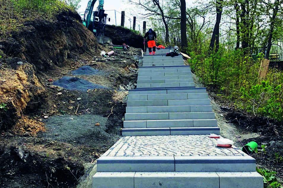 So sieht der neue Zugang zum Brautwiesenpark aus.