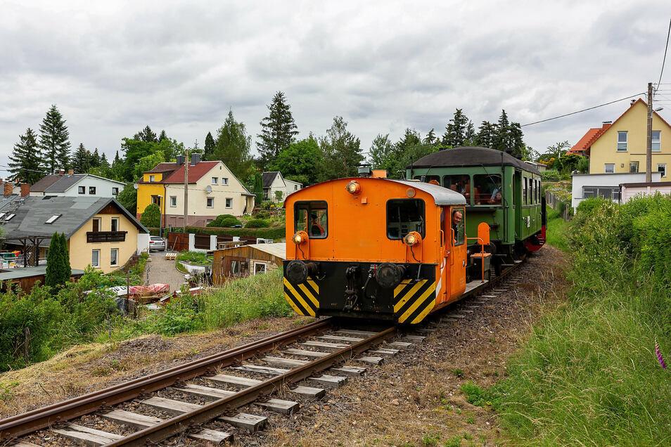 Die Windbergbahn mit Aussichtswaggon.
