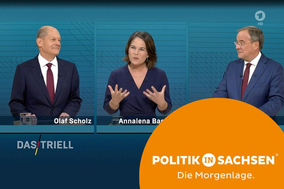 Zwei Umfragen zeigen: Die deutliche Mehrheit der Sachsen wünscht sich nach der Wahl einen politischen Neuanfang. Nur den passenden Kanzlerkandidaten dafür scheint es für viele Sachsen nicht zu geben.