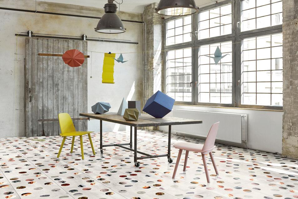 Für Parador entwickelte der Schweizer Designer Alfredo Häberli das Floor FieldsMuster fürs Laminat.