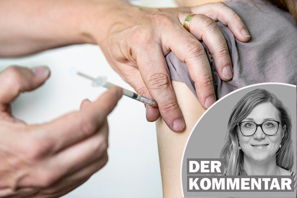 Ein Kinder- und Jugendarzt impft ein Mädchen. Johanna Lemke kommentiert das Impfen von Kindern.