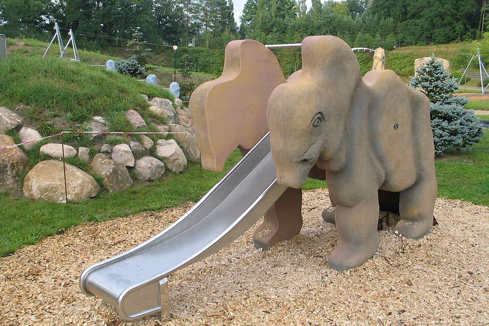 Ein Mammut ohne Stoßzähne – der Sicherheit halber.