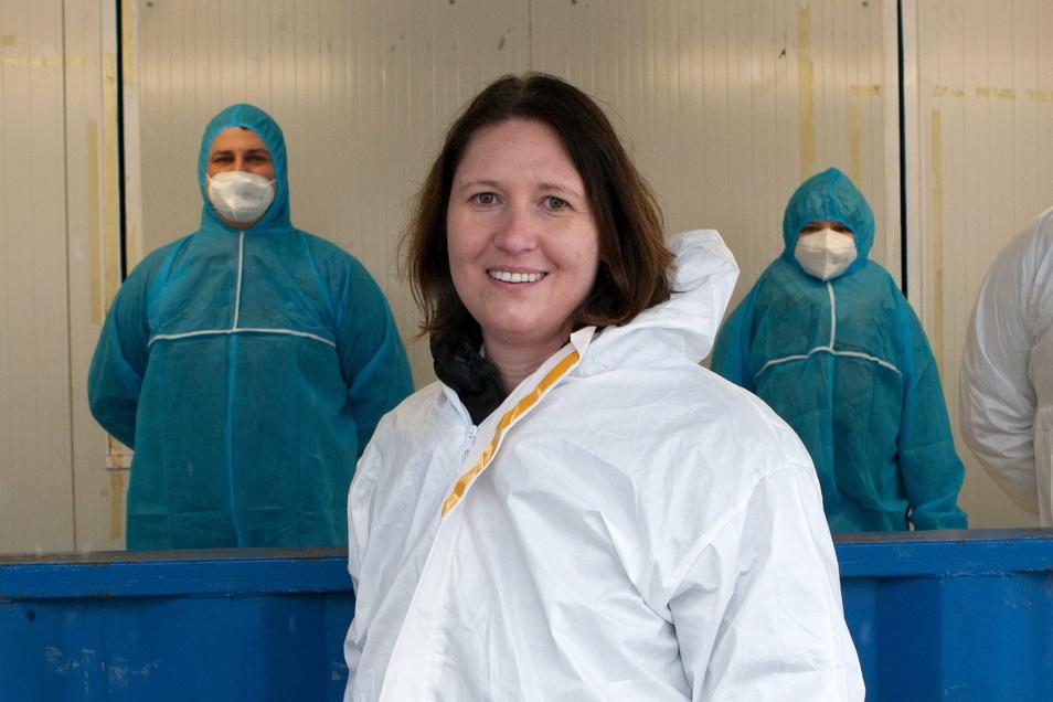 Nicole Modl von Modl Medical aus Bayern richtet jetzt ein Schnelltest-Center in Zittau ein. Eines betreibt ihre Firma bereits in Görlitz bei Birkenstock.