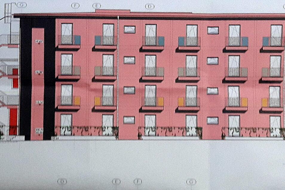 So sieht der geplante Anbau an das Schützenhaus Leisnig aus. Die Stadträte haben sich am 26. November mit den Entwürfen beschäftigt.