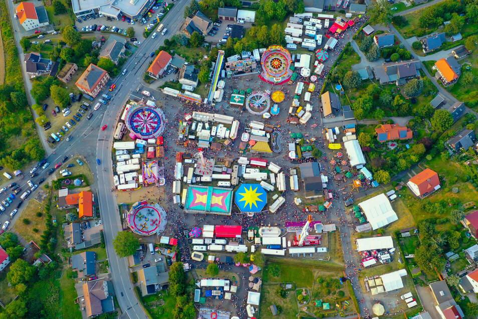 Der Jacobimarkt von gaaaanz weit oben.