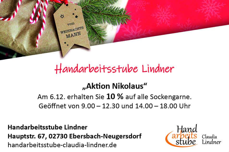 Handarbeitsstube Lindner, Hauptstr. 67, 02730 Ebersbach-Neugersdorf
