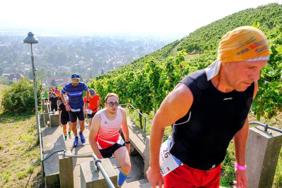 Beim Spitzhaustreppenlauf geht es die Stufen hinab und wieder hinauf - und das jeweils mindestens 100 Mal.