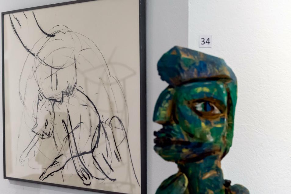 Skulpturen, Terracotta-Arbeiten und Bilder präsentiert Barbara Wiesner derzeit in Bautzen.