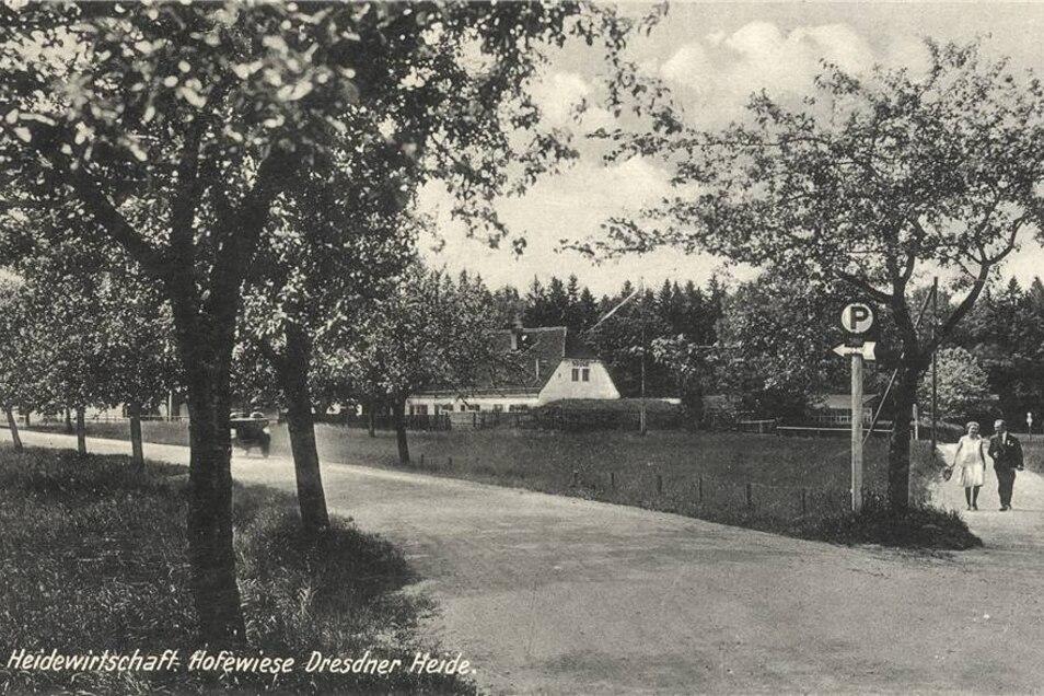 So sah das Gelände der Hofewiese um 1930 aus.