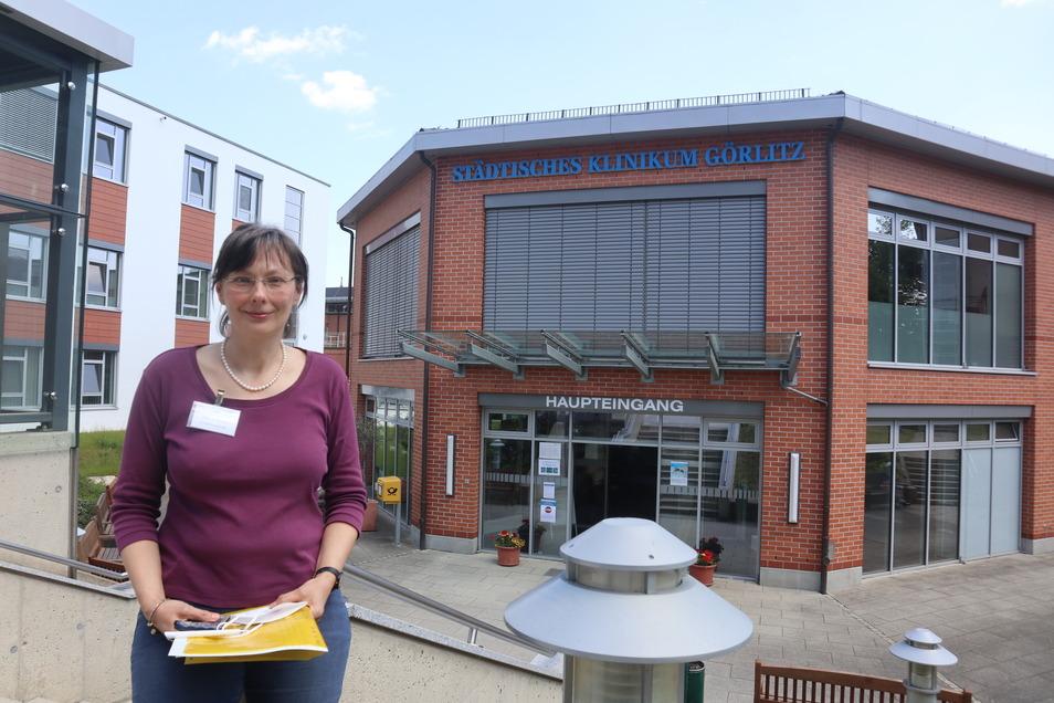Pfarrerin Antje Kruse (53) ist seit September 2020 evangelische Seelsorgerin im Städtischen Klinikum Görlitz. Diese Stelle ist auf sechs Jahre befristet.