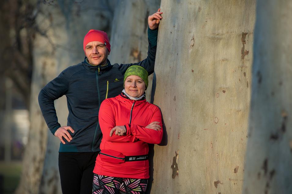 Ihre Ziele sind unterschiedlich, aber Tina Hubrich und Falko Uyma stellen sich der gleichen Herausforderung. Am 26. April soll sich auf der 21-Kilometer-Distanz des VVO-Oberelbe-Marathons zeigen, wie sich die Vorbereitung gelohnt hat.