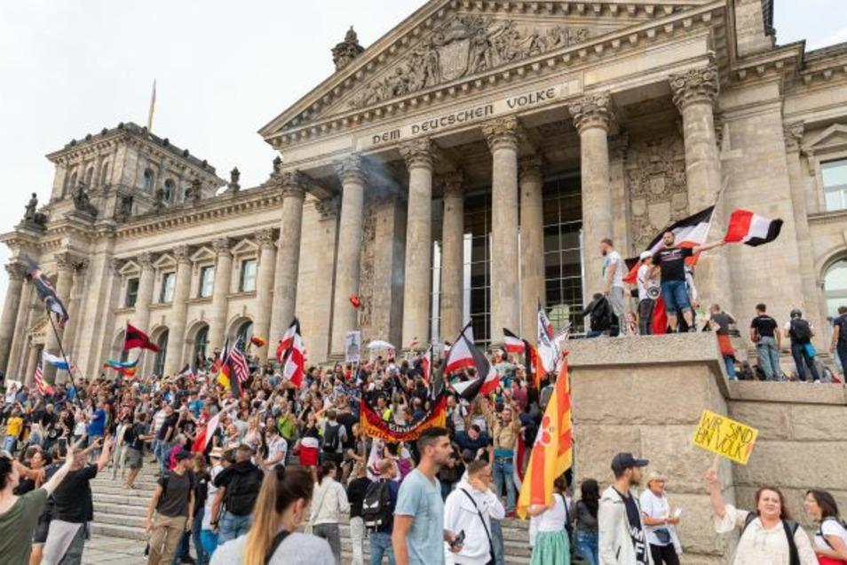Auch an der gescheiterten Reichstagsstürmung im August 2020 waren Reichsbürger beteiligt.