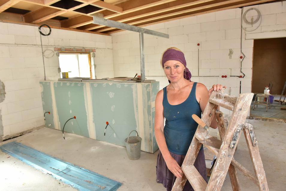 Hier werden in zwei Monaten täglich über 200 Mittagessen gekocht. Noch laufen die Umbauarbeiten.