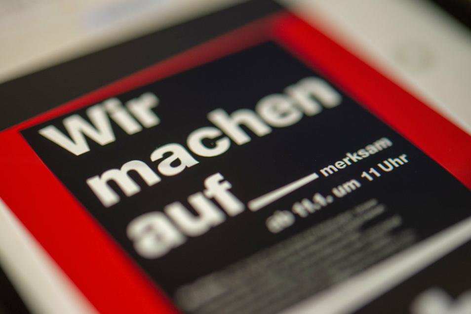 Auch in Großenhain ist seit Donnerstag die Aufforderung einer Netzinitiative in Umlauf, laut der Händler am 11. Januar ihre Läden öffnen sollen.